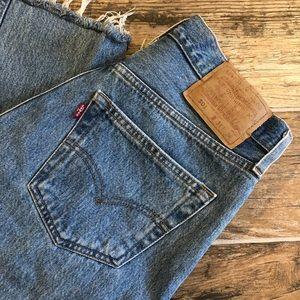 Levi's | Vintage 501 High Rise Raw Hem Mom Jeans